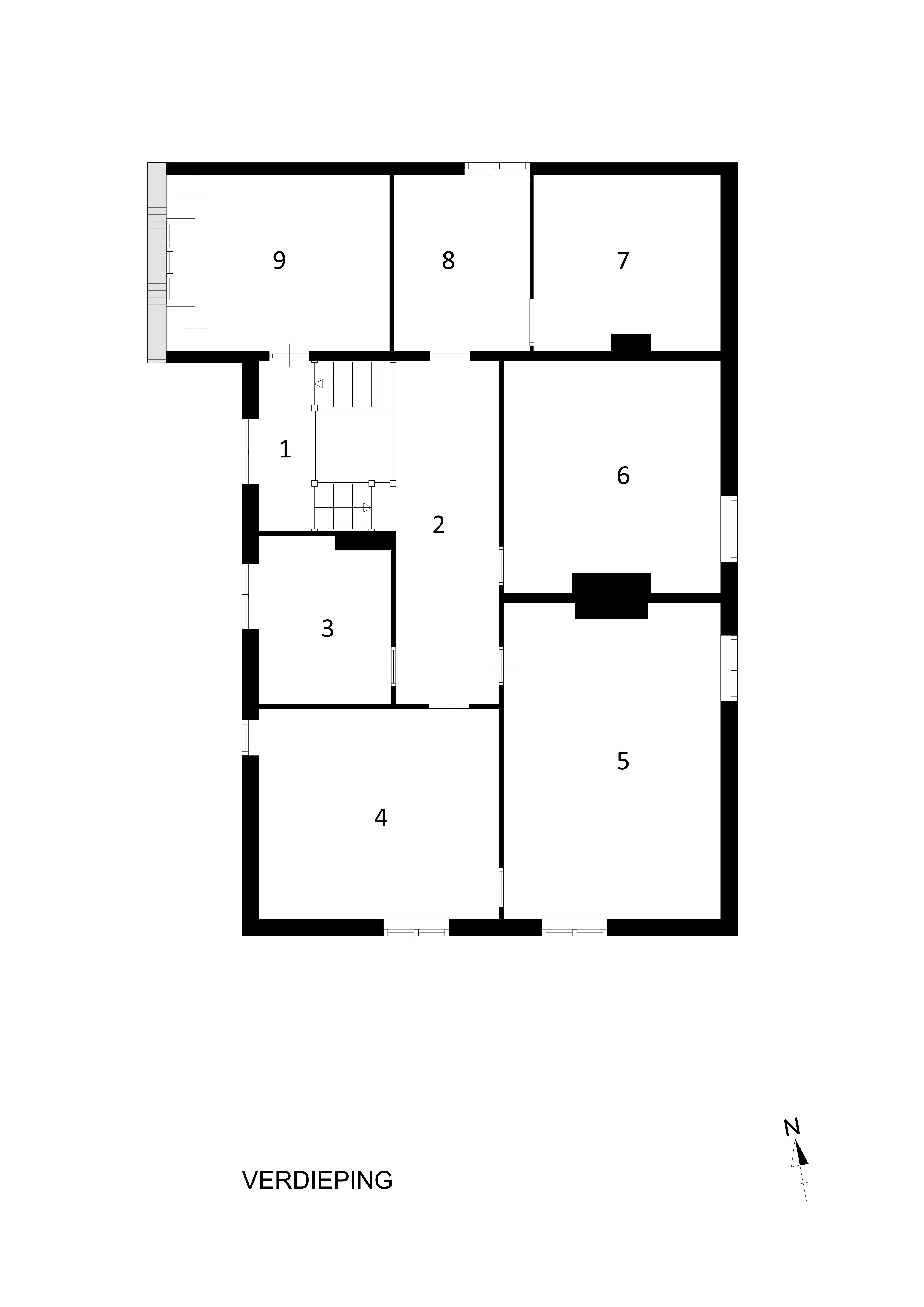 Plattegrond Kleine Keuken : Huis De Bijlakker door Johan Wilhelm Hanrath Stichting Historische