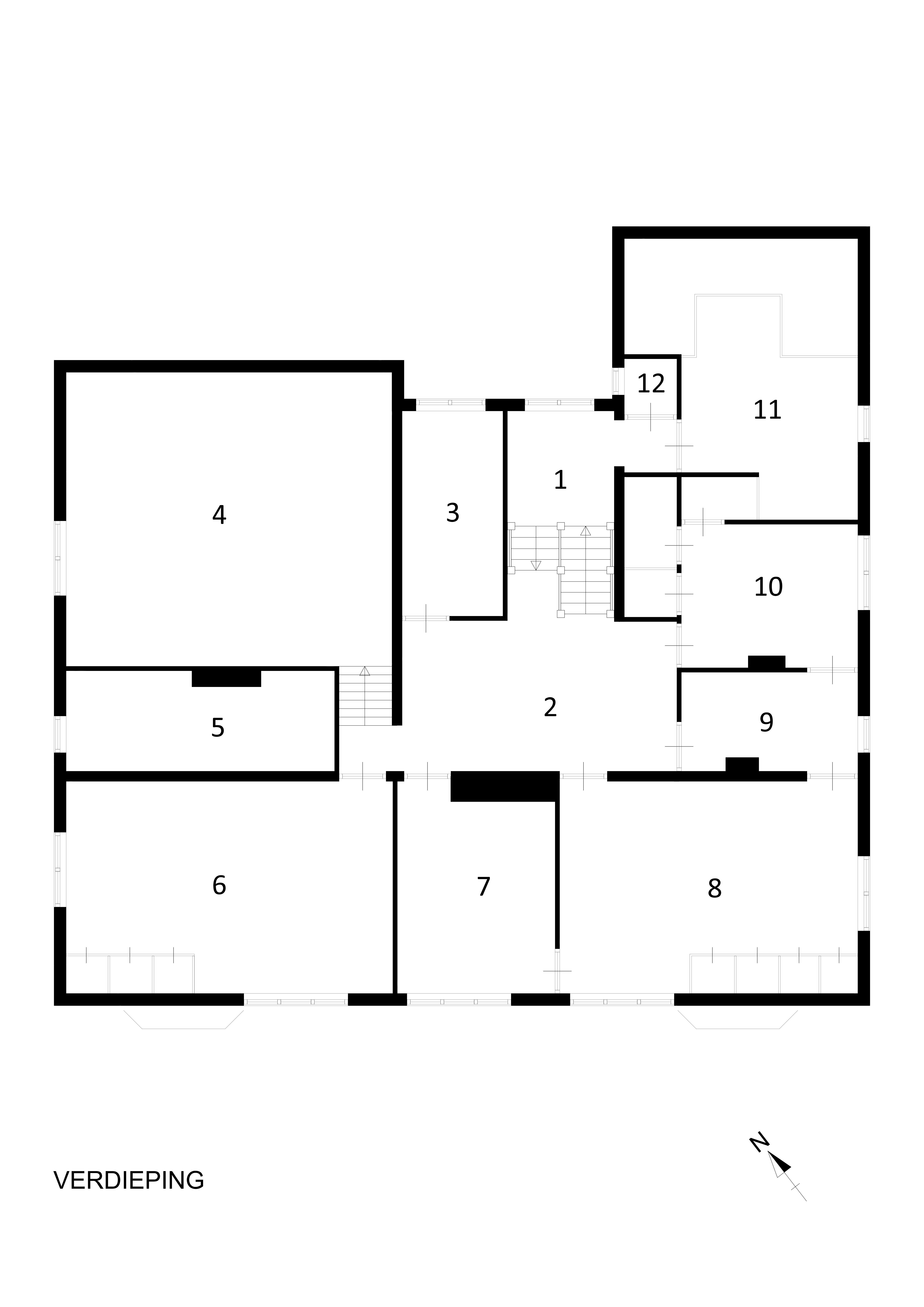 Huis van de weg door johan wilhelm hanrath stichting for Plattegrond woning